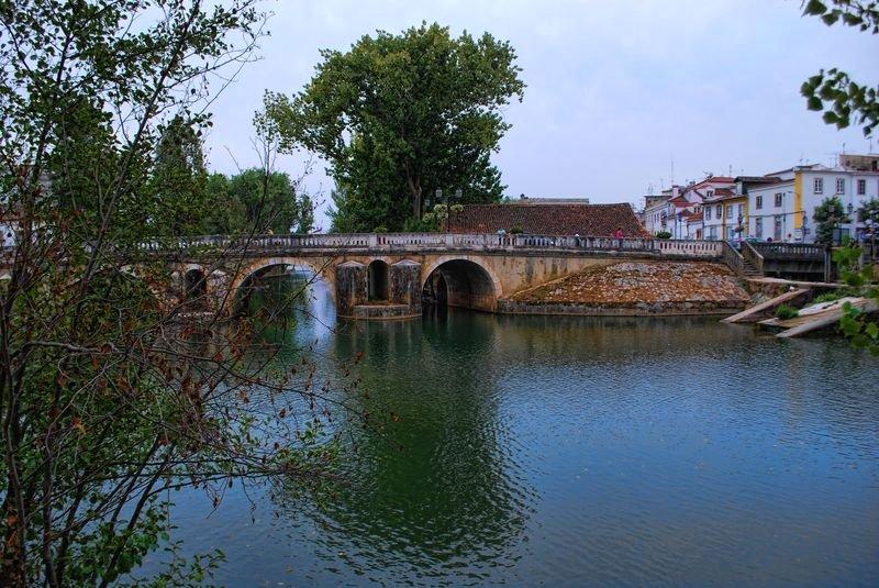 Bridge King Manuel I, in the City of Tomar in Portugal