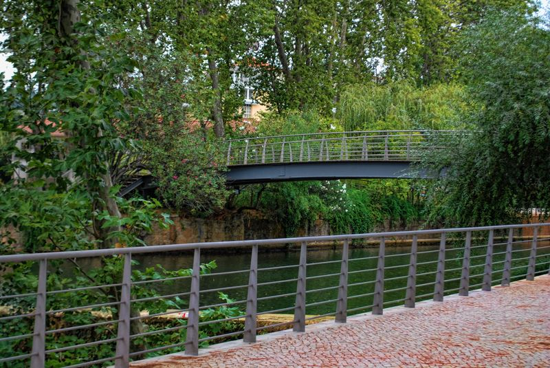 Bridge of Mouchão Park in the City of Tomar in Portugal