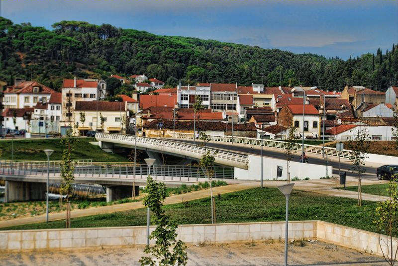 Flecheiro Bridge in the city of Tomar in Portugal