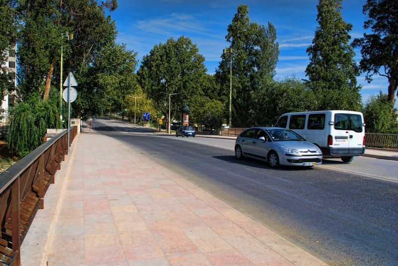 The New Bridge at Avenida Norton de Matos in the City of Tomar in Portugal