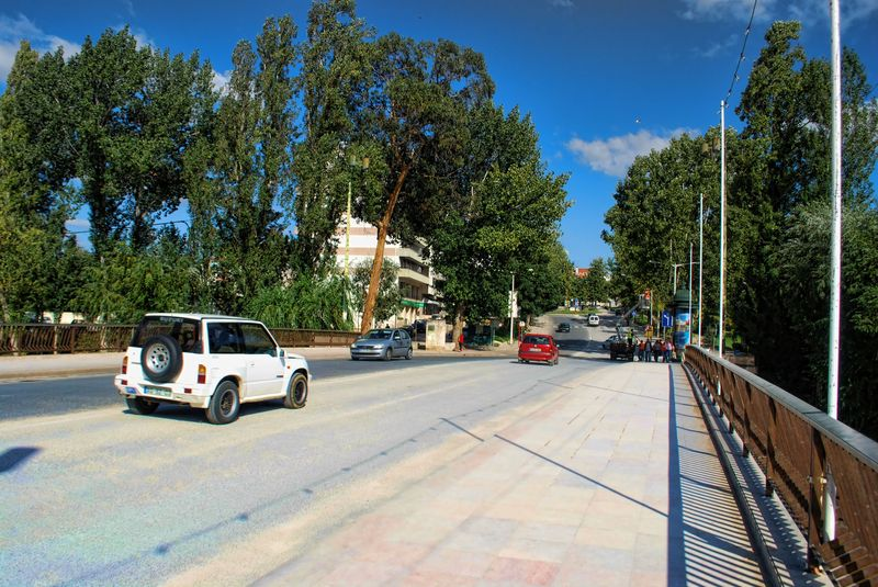 The New Bridge in a a sunny day in the City of Tomar