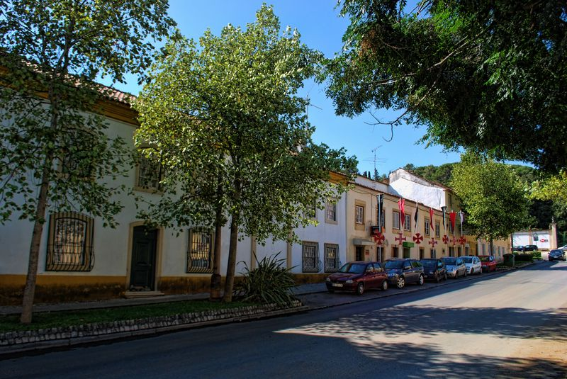 Buildings at Avenida Cândido Madureira in the City of Tomar in Portugal