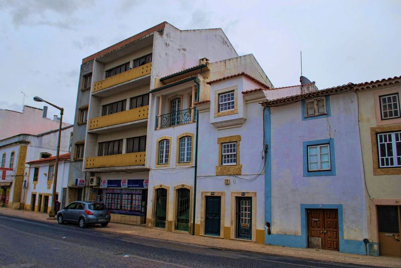 Buildings and a block of flats at Dom Nuno Álvares Pereira in the City of Tomar
