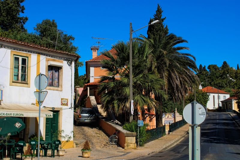 Houses near Estrada de Leiria in the City of Tomar in Portugal