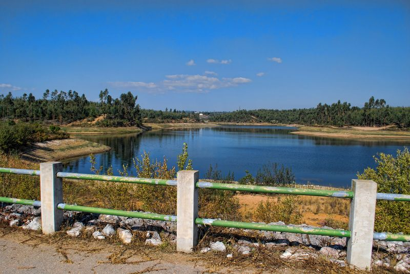 Fence around Carril Dam in the City of Tomar in Portugal