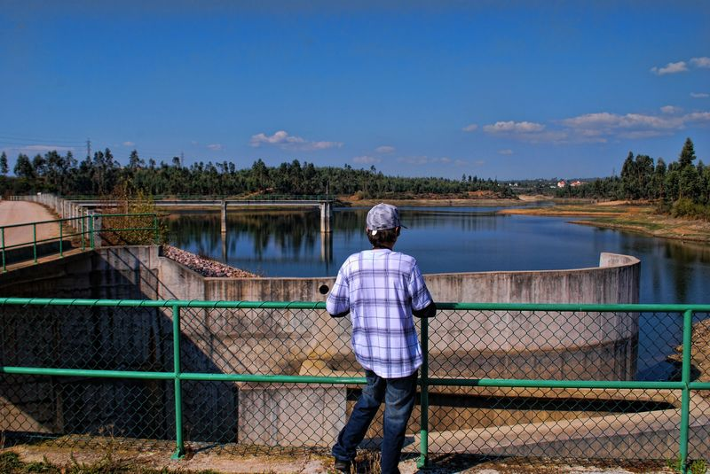 Nice views at Carril Water Dam in the City of Tomar