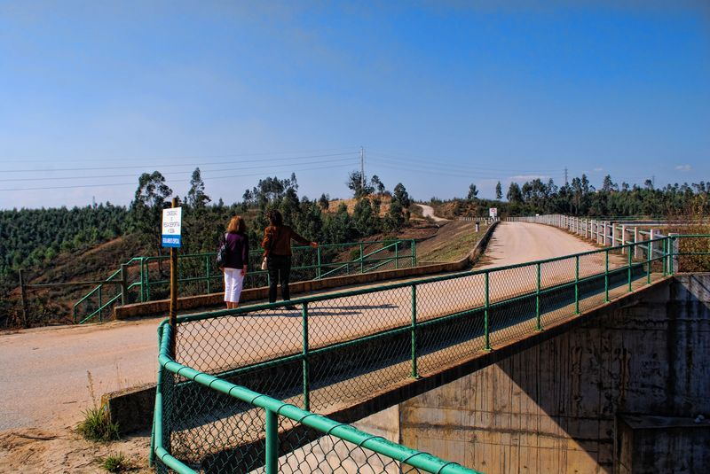 Small bridge at Carril Water Dam in the City of Tomar in Portugal