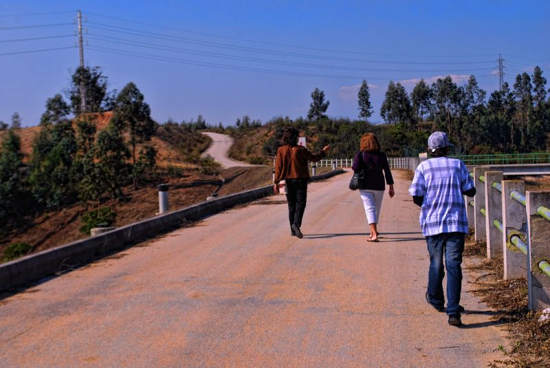 Walking at Carril Water Dam in the City of Tomar