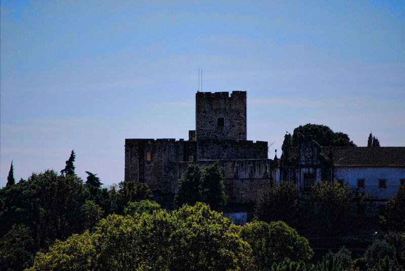 The Castle of the City of Tomar and the Convent of Christ at close range