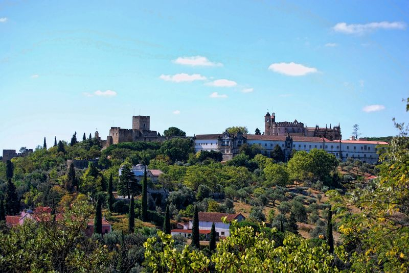 The Castle and the Convent of Christ in the City of Tomar in Portugal