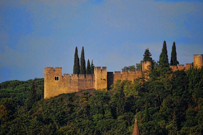 Close up of the Castle of Tomar in Portugal