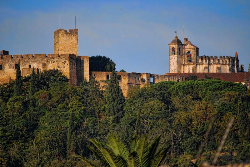 Close up of the Castle of the Knights Templar and the Convent of Christ in Tomar
