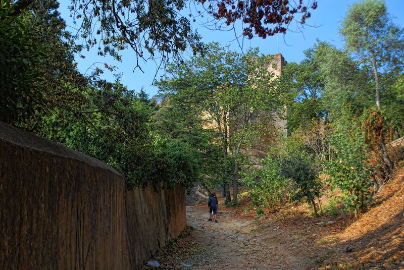 Walking through an old road to the Castle of Tomar