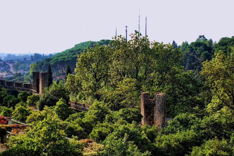 Castle of Tomar and its battlements