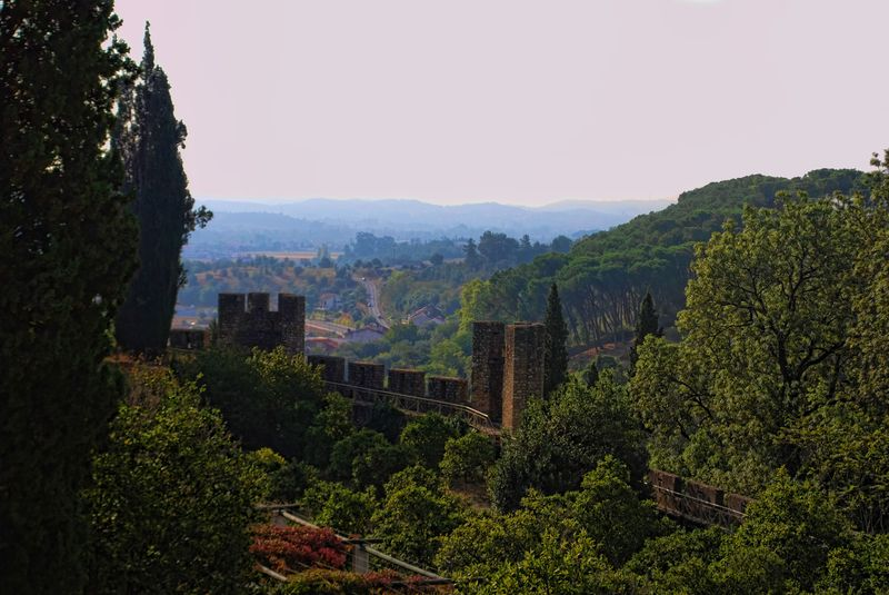 Battlements of the Castle of the Knights Templar in Tomar