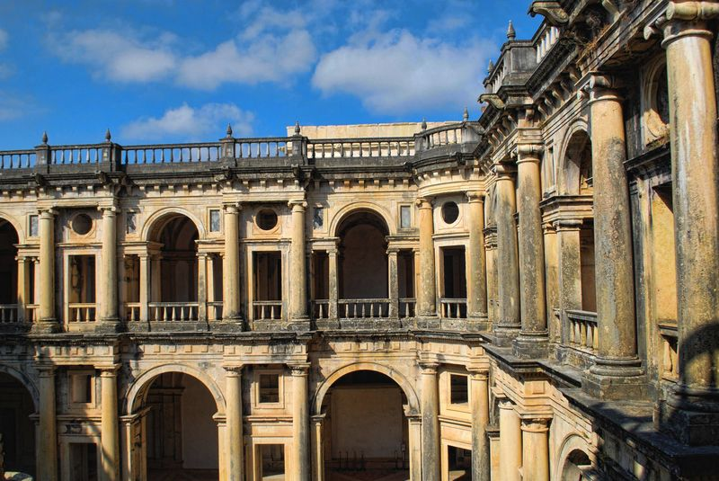 Inside the Convent of Christ in the City of Tomar in Portugal