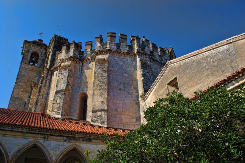 Charola or Round Church at Christ's Convent in the City of Tomar in Portugal
