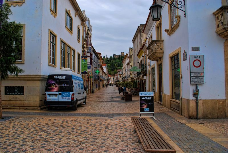 Eyes test car at Rua Serpa Pinto in the City of Tomar