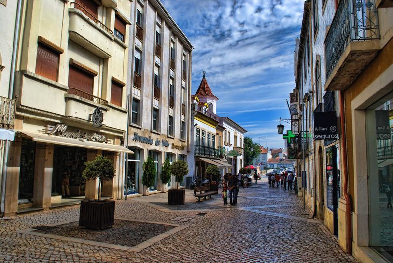 Day of rest at Corredoura in the City of Tomar in Portugal