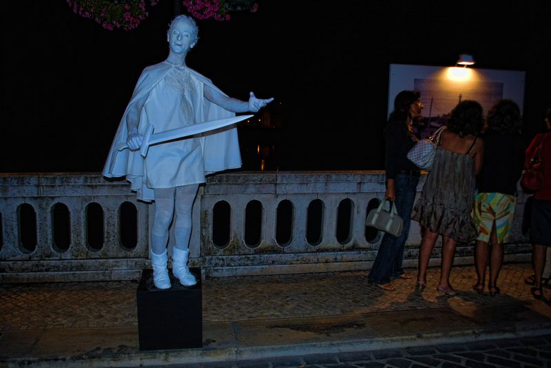 Human Statue of Nuno Alvares Pereira, a General who saved Portugal