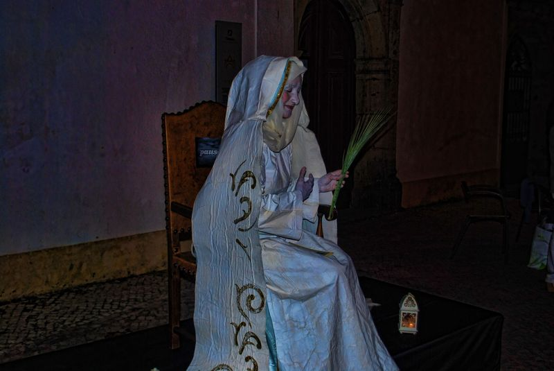 Human Statue of Santa Iria, patron saint of the City of Tomar