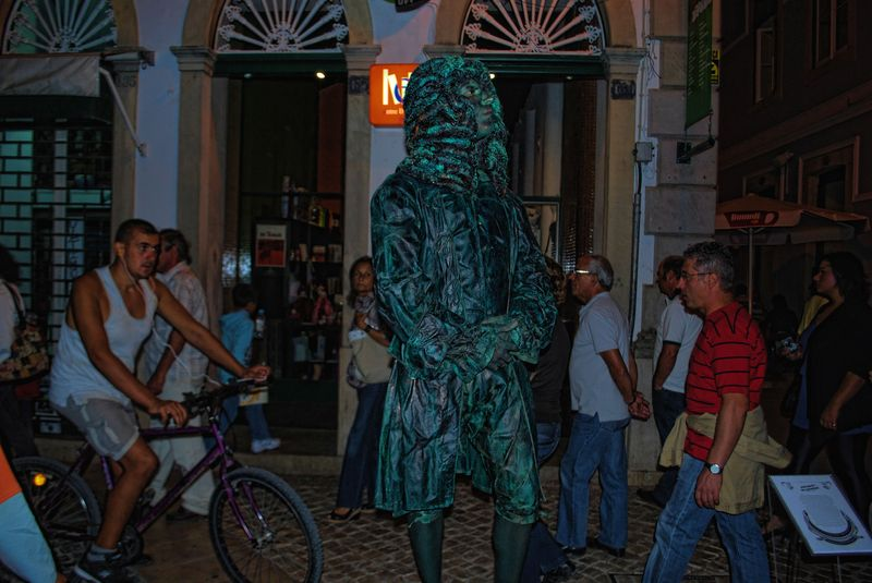 Human Statues in Tomar: Marquis of Pombal