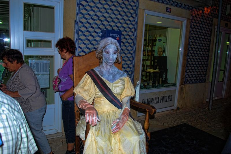 This is the Human Statue of D. Maria I of Portugal