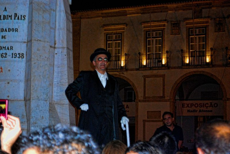 Staticman at the Festival of Human Statues in the City of Tomar