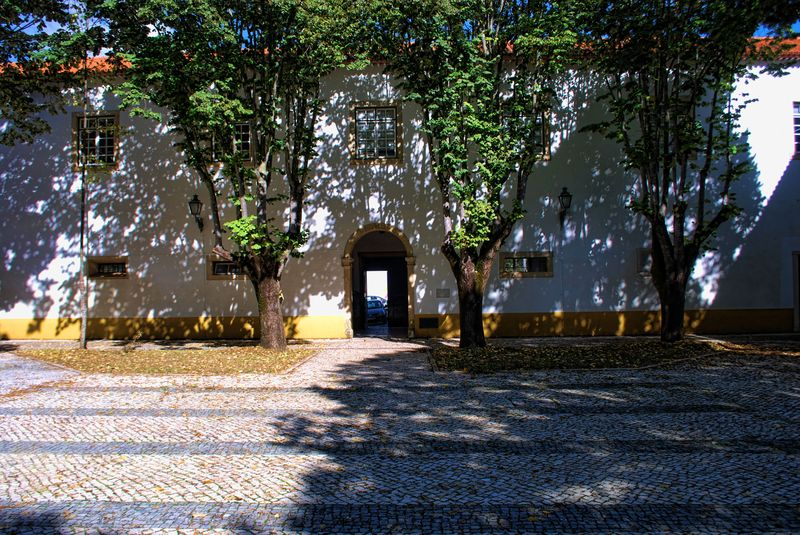 Courtyard of the Convent of São Francisco in the City of Tomar in Portugal