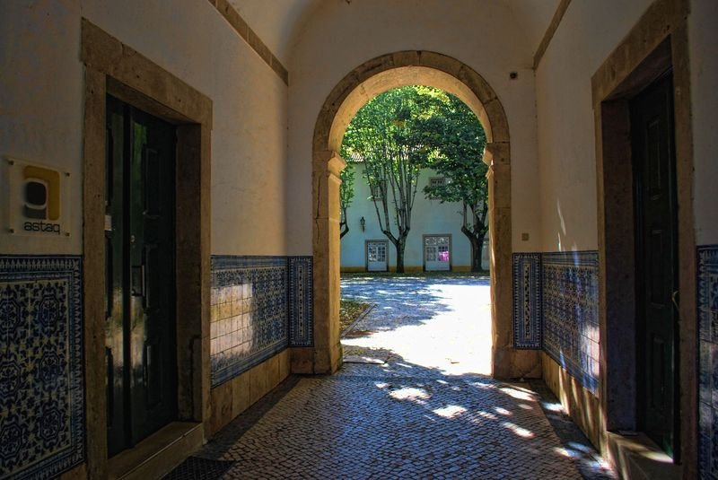 Corridor at Convento de São Francisco in the City of Tomar