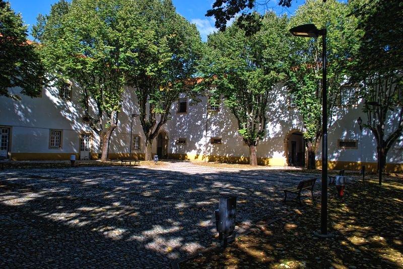 Courtyard of Convento de São Francisco in Tomar, Portugal
