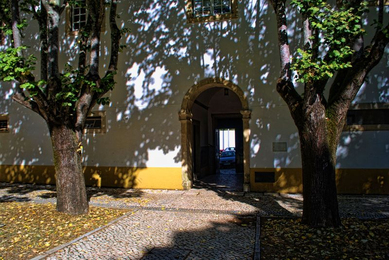 Door at Convento de São Francisco in the City of Tomar