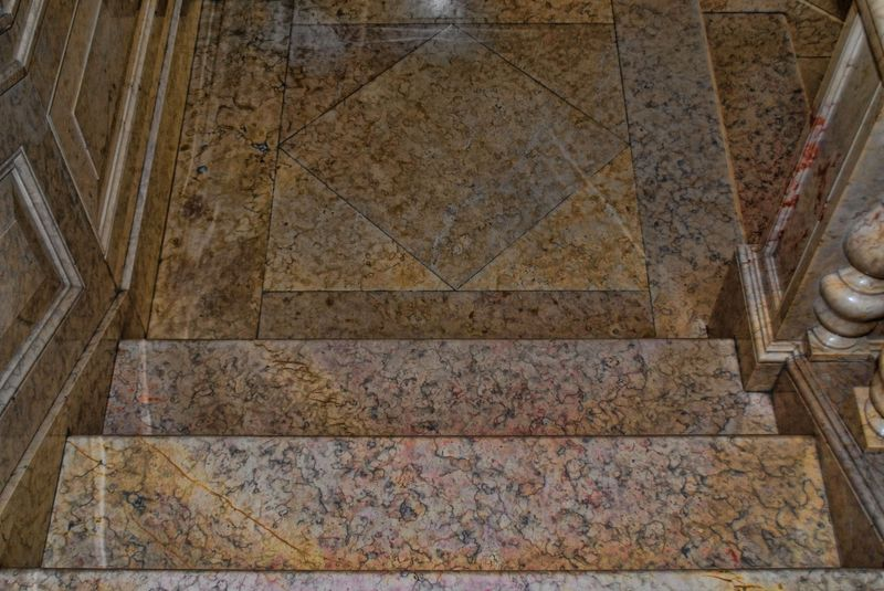 Marble staircase at the Tourist Centre of the City of Tomar in Portugal