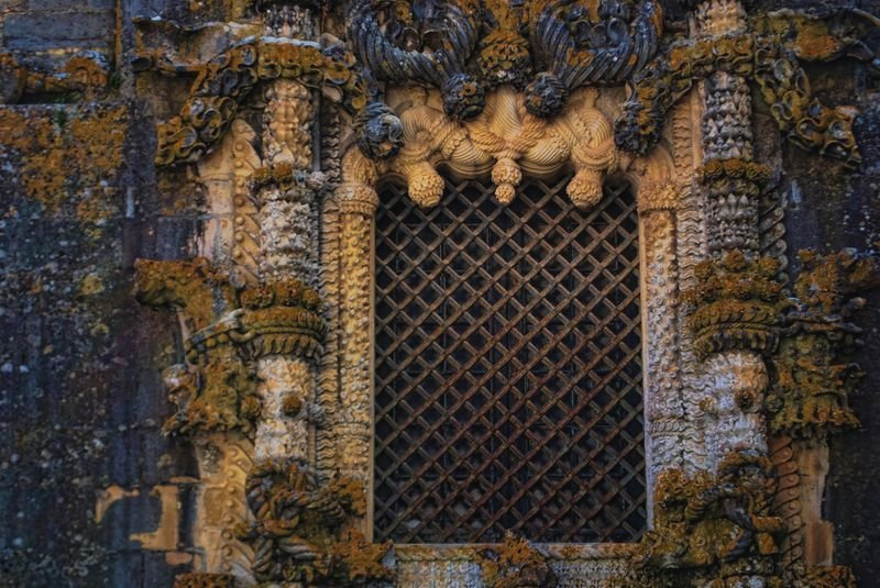 Window of the Chapter House at the Christ Convent in the City of Tomar