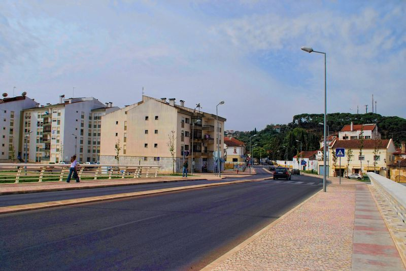 Apartments from Flecheiro bridge in the City of Tomar