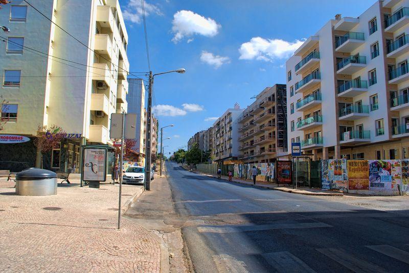 Rua de Coimbra in Tomar, Portugal