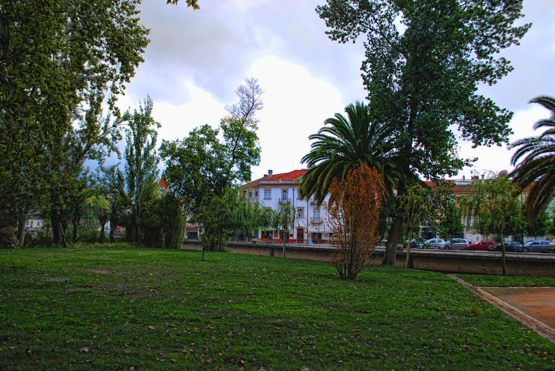 Island of Mouchão Park in Tomar, Portugal