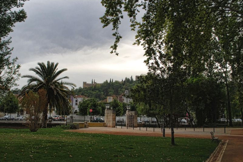 Island of Mouchão Park in the City of Tomar in Portugal