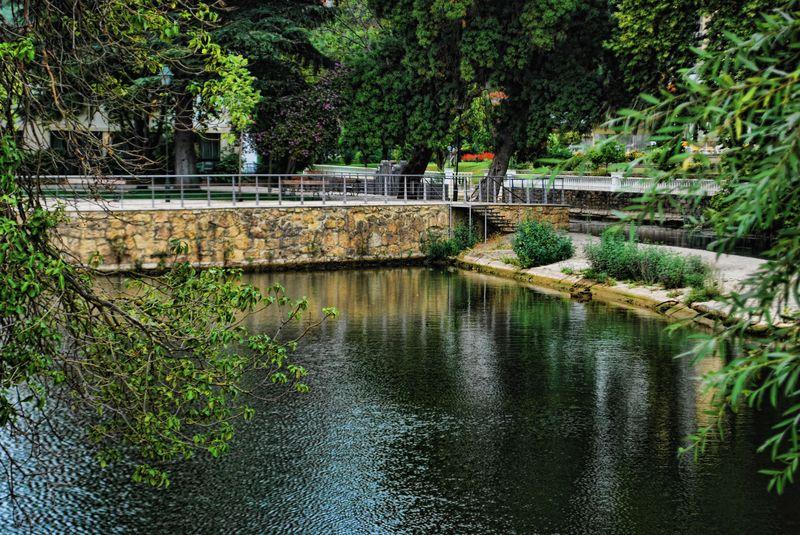 Parque do Mouchão, Rio Nabão, Cidade de Tomar, Portugal