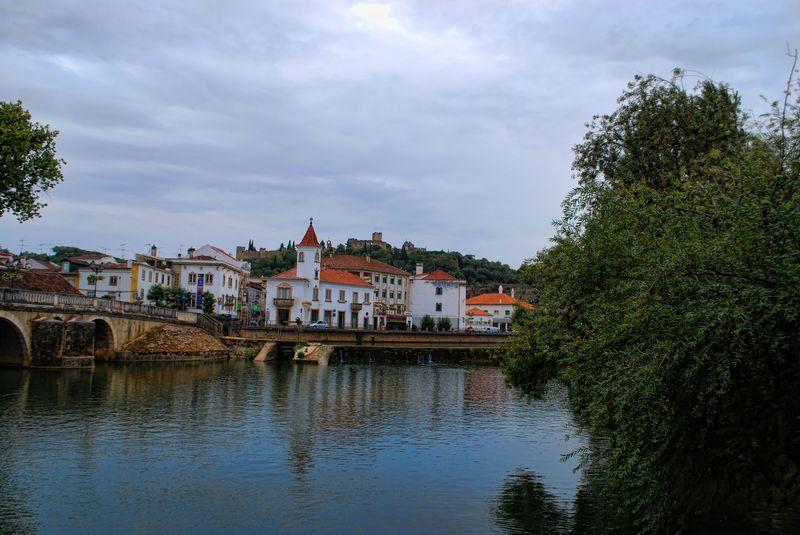 Nabão River with rain the horizon