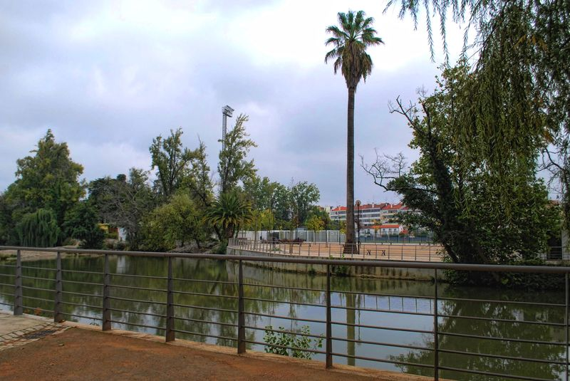 Nabão River from the Island of Mouchão in the City of Tomar