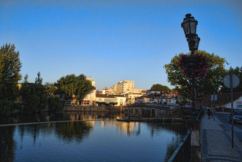 Nabão River at a street called Rua Marquês de Tomar