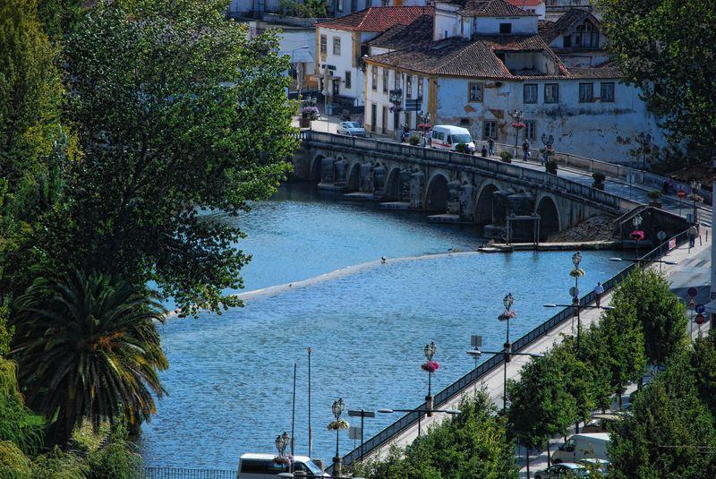 Nabão River from the Chapel of Senhora da Conceição in the City of Tomar