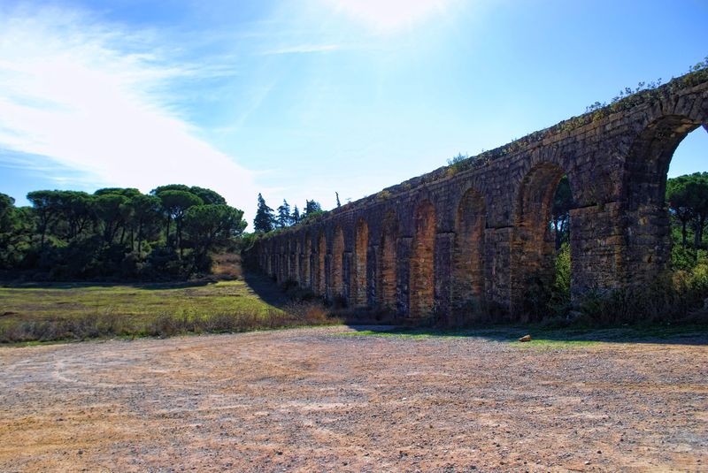 Pegões Aqueduct 6 kilometres away from Tomar, Portugal