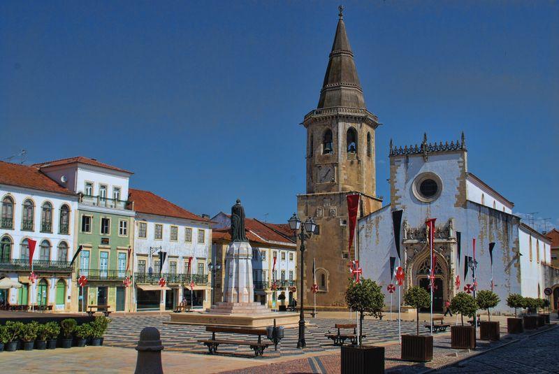 Praça da República in Tomar, Portugal