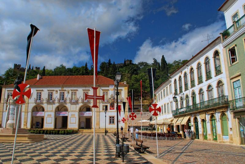 Tomar Castle and buildings at Republic Square