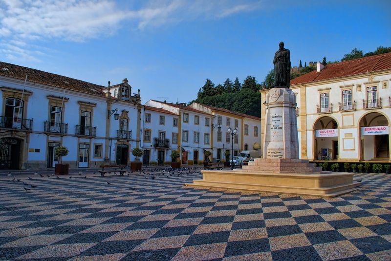 Statue of Gualdim Pais at Praça da República in the City of Tomar