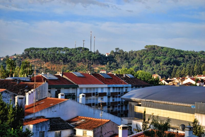 Buildings and rooftops in the City of Tomar in Portugal