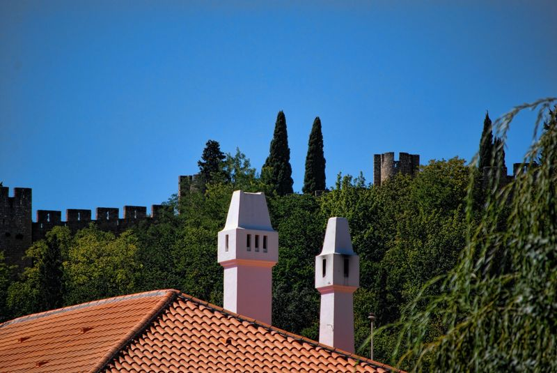 Rooftop and chimneys at the Post Office of Tomar