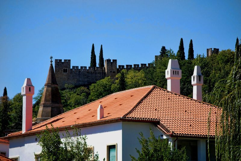 Rooftop of the Post Office headquarters of the City of Tomar in Portugal